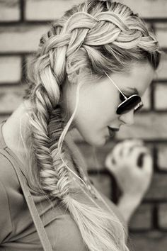 Side braid fishtail #vlecht