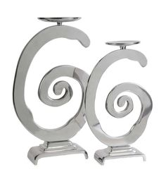 Volutes Candle Stand Trio