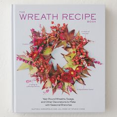 """From authors Jill Rizzo and Alethea Harampolis of the popular Flower Recipe Book, this beautifully photographed volume offers 100 'recipes' for creating stunning wreaths from flowers and branches. From wintry evergreens to springtime cherry blossoms, recipes for every season include detailed ingredient lists and step-by-step instructions with photos.- 272 pages- Hardcover- Artisan9""""H, 7""""W, 1""""D"""