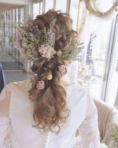 大人花嫁にも似合う♡ナチュラルおしゃれな編みおろしヘアまとめ | marry[マリー] Girls Dresses, Flower Girl Dresses, Lace Wedding, Wedding Dresses, Wedding Hairstyles, Fashion Outfits, Hair Styles, Flowers, Weddings