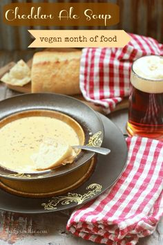 All hail Vegan Cheddar Ale Soup! So rich, so creamy, so give it to me.