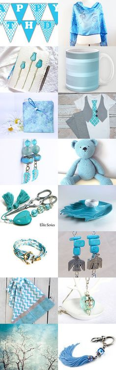 Tuesdays Light Blues....  by riagr on Etsy--Pinned with TreasuryPin.com