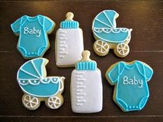 Baby shower cookies. This site has a lot of different sources.