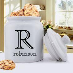 Personalized Cookie Jar  Ceramic Cookie Jar  by CreativeByClair, $32.49