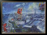 View of Paris Marc Chagall
