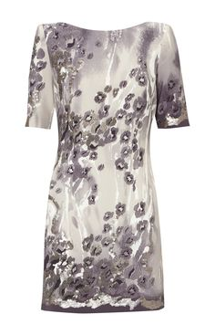 Karen Millen Snow Leopard Beading Dress [#KMM089] - $90.15 :