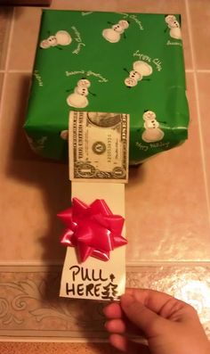 Money in a Box... HAHAHA! I'm totally doing this for my brother next year!!!!