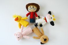 Old MacDonald's farm Old McDonald crochet finger by lamicogufo