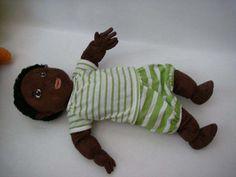 Stuffed Boy Doll African American Lekkamrat Ikea Black Boy Soft Cuddley 18'' in Dolls & Bears, Dolls, By Type | eBay