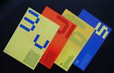 Wim Crouwel Postcards on Behance