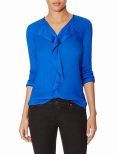 Ruffle Front Blouse from THELIMITED.com #ItsTime #TheLimited