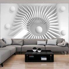 Blanc et gris – un dessin abstrait créant une réelle impression de profondeur