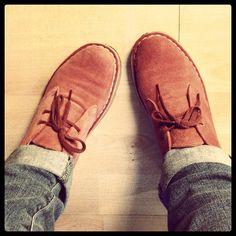 Jai B's Clarks Desert Boots look fantastic with cuffed denim.
