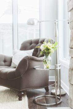 Eclectic comfortable armchair