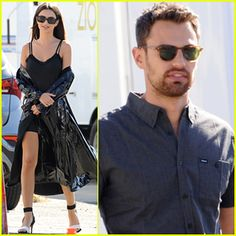 Emily Ratajkowski & Theo James Film 'Lying & Stealing' in LA Theo James, Emily Ratajkowski, Mens Sunglasses, Film, Fashion, Movie, Movies, Moda, Film Stock