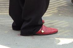 The shoes are classic KC men's fashion! The pants might need a hem, but the shoes rock.