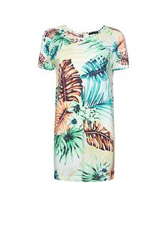 MANGO - Hawaiian print dress @Cindy Rowley this would be perfect for me to wear for Tiffs party