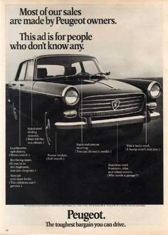 Peugeot 404 - my dad had no idea how to drive it and didn't read French. Didn't last long. Peugeot 404, Auto Peugeot, Vintage Auto, Vintage Cars, Protest Signs, First Car, Car Manufacturers, Car Car, Pug