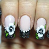 Decoración de uñas flores-1