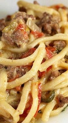 Ro*Tel Cheeseburger Spaghetti