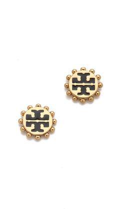 Love these studs: Tory Burch studs, burch stud, fashion, tori burch, style, accessori, stud earrings, tory burch, toryburch