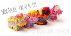 Miniature Pinata DIY Tutorial | A Blackbird's Epiphany - UK Women's Fitness, Crafts and Creative Writing Blog: Miniature Pinata DIY Tutorial