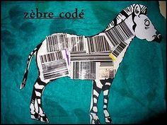 zèbre en code barre