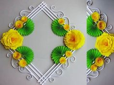 How to Make Paper Wall Hanging Decoration Paper Wall Hanging, Wall Hanging Crafts, Hanging Flower Wall, Paper Flower Wall, Flower Wall Decor, Paper Flowers Diy, Diy Hanging, Flower Crafts, Diy Paper