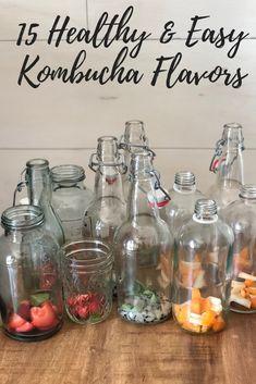 15 Healthy & Easy Kombucha Flavors – How to make Kombucha Flavors, Kombucha Scoby, How To Brew Kombucha, Kombucha Fermentation, Flavored Kombucha Recipe, Kombucha Bottles, Kombucha Brewing, Kombucha Benefits, Juice Smoothie