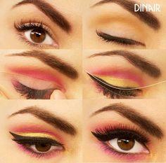 Create this #TrendyEyesTuesday look using Dinair's Topaz, Fantasy Pink, 24…