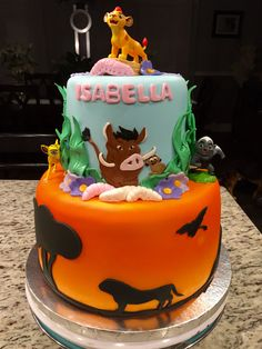 The lion guard birthday cake