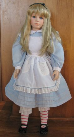 Thelma Resch Signed Alice in Wonderland Porcelain Doll Lt Ed 1998 Mint Cond | eBay