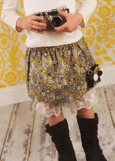 Oooh Soo Cute Mini Flower girls Skirt by gurlygurlcouture on Etsy, $24.00