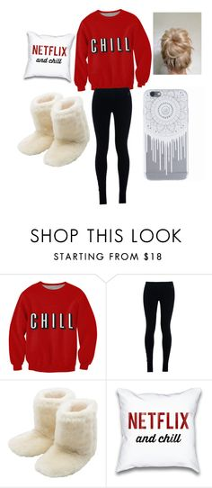 """""""Just watching Netflix and chilling"""" by prettylittleliers1 ❤ liked on Polyvore featuring NIKE, M&Co, women's clothing, women's fashion, women, female, woman, misses and juniors"""