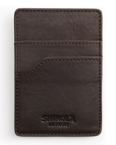 Leather Card Case with Money Clip