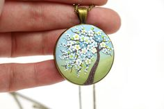 Tree-Of-Life necklace pendant Sakura-necklace Cherry blossom