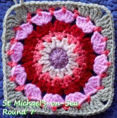Zooty Owl's Crafty Blog: Seaside Winter Blanket CAL: Square 8 St…