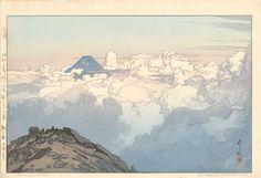 吉田博 Hiroshi Yoshida『日本アルプス集 駒ヶ岳山頂より』