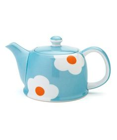 Light Blue Daisy Teapot