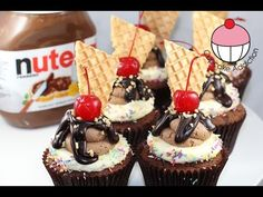 Nutella Fudge Cupcakes! Small Batch Cupcake Recipe by Cupcake Addiction - YouTube