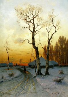 Klever Julius - Thaw. 200 Russian painters • download painting • Gallerix.ru