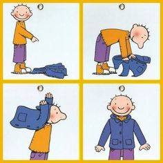 Independence: how to put on a coat. Sequencing Pictures, Sequencing Cards, Story Sequencing, Sequencing Activities, Educational Activities, Preschool Activities, Self Help Skills, Life Skills, First Day Of School
