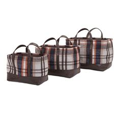 Ski Lodge Baskets - Set of 3 -