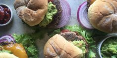 Guacamole Cheeseburger with Chipotle Ketchup Recipe