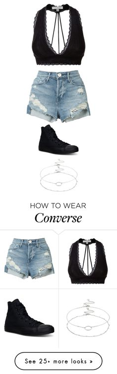 """""""Untitled #4529"""" by twerkinonmaz on Polyvore featuring LE3NO, 3x1, Converse and Accessorize"""