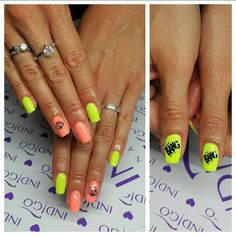 by Klaudia Demkiewicz Indigo Young Team! Follow us on Pinterest. Find more inspiration at www.indigo-nails.com #nailart #nails #indigo #yellow #neon #summer