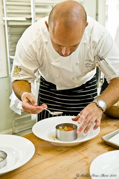 Interview with Chef Colin Bedford of the Fearrington House in North Carolina. Includes his recipe for Yogurt & Thyme Panna Cotta with Summer Berry Soup.