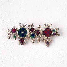 Vintage sterling silver and enamel brutalist brooch Brutalist, Vintage Gifts, Enamel, Brooch, Sculpture, Jewellery, Sterling Silver, Vitreous Enamel, Jewels