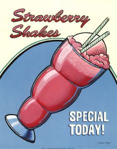 Vintage Food Advertisements (Page of Miscellaneous Years Vintage Advertisements, Vintage Ads, Strawberry Pictures, Carbonated Soft Drinks, Milkshake Bar, Sno Cones, Diner Recipes, Specials Today, Retro Images