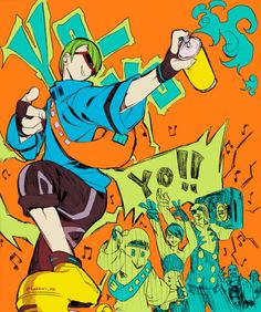 This was defiantly one of the coolest skate games of the early two thousands Z Toon, Jet Set Radio, Video Game Art, Art Inspo, Cool Art, Spiderman, Graffiti, Funny Pictures, Character Design